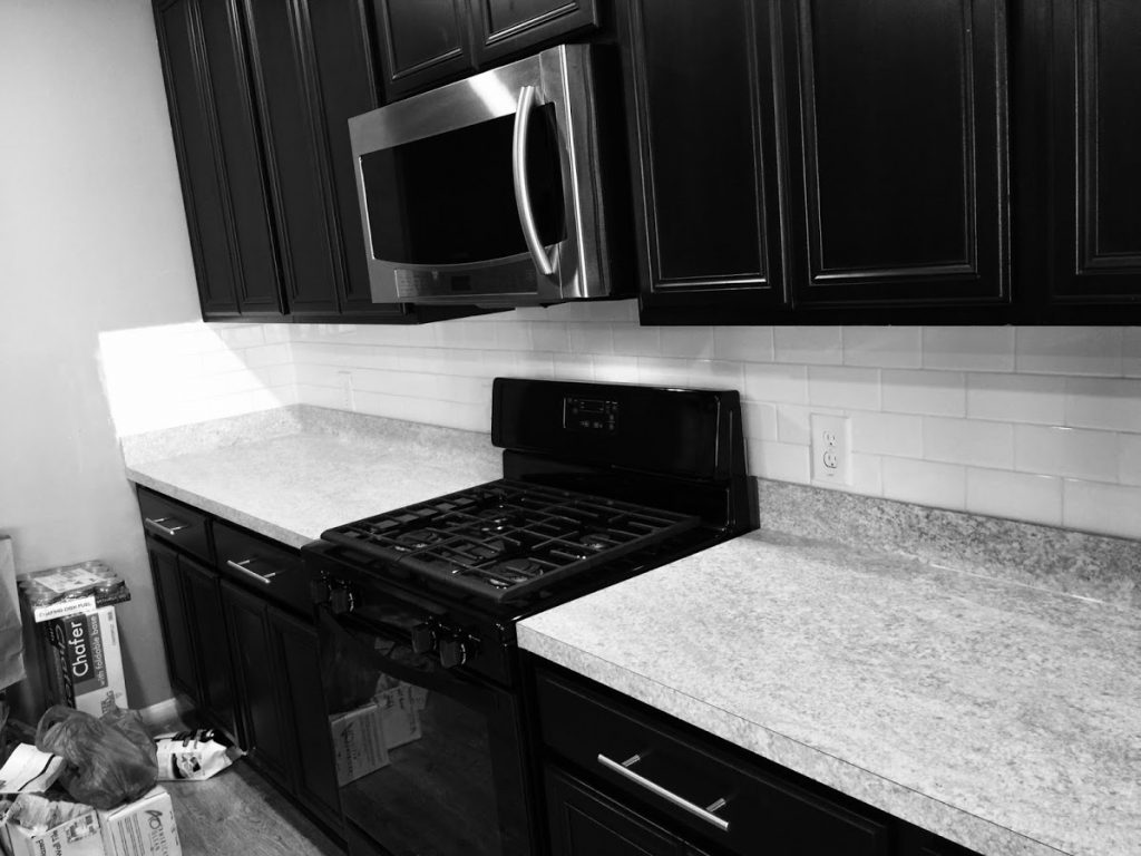 White subway tile kitchen backsplash installation houston